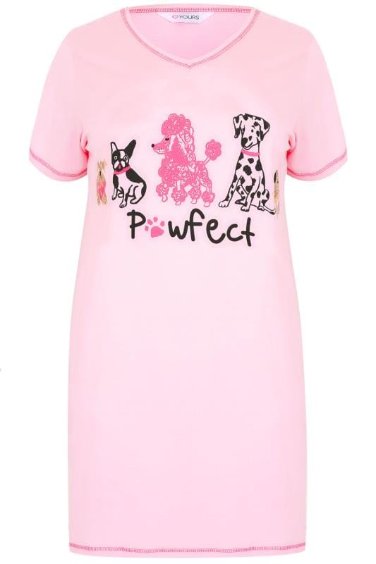 Pink 'Pawfect' Dog Print Nightdress
