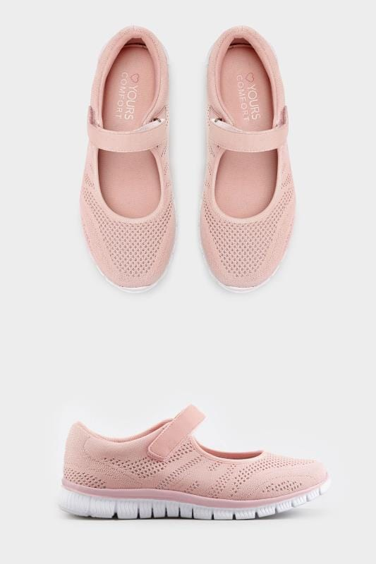 Pink shimmer knit strap pumps wide fit sizes 5eee to - Add background image to div ...