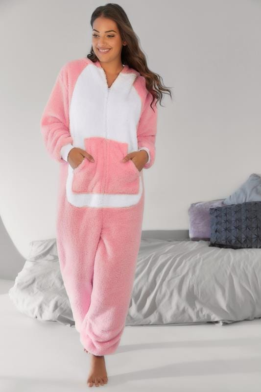 Pink Fleece Unicorn Onesie