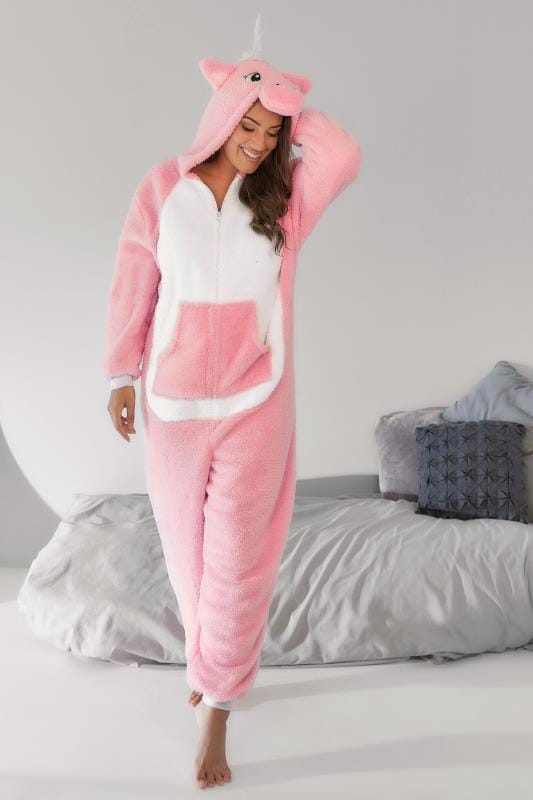 Onesies Pink Fleece Unicorn Onesie 148197
