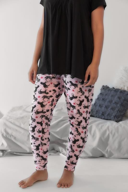 Pink Unicorn Print Pyjama Bottoms