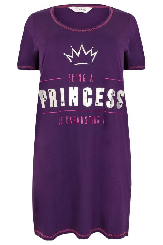 "Chemise de Nuit Violette ""Being a Princess is Exhausting"""