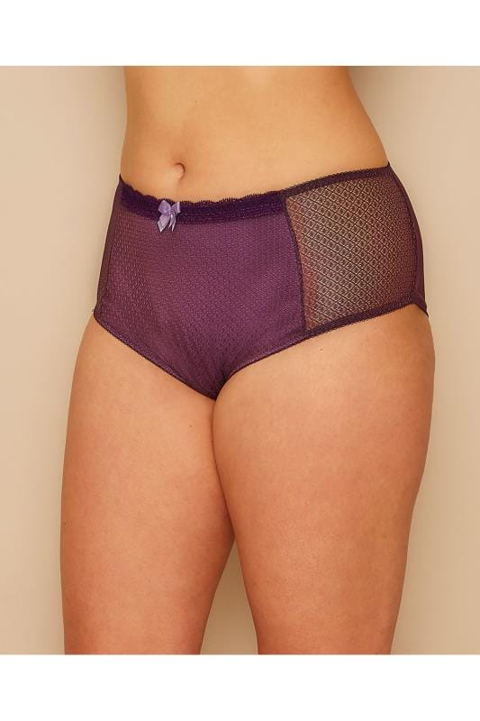 Purple Berry Mesh Brief