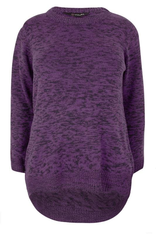 Purple & Black Twist Knitted Jumper