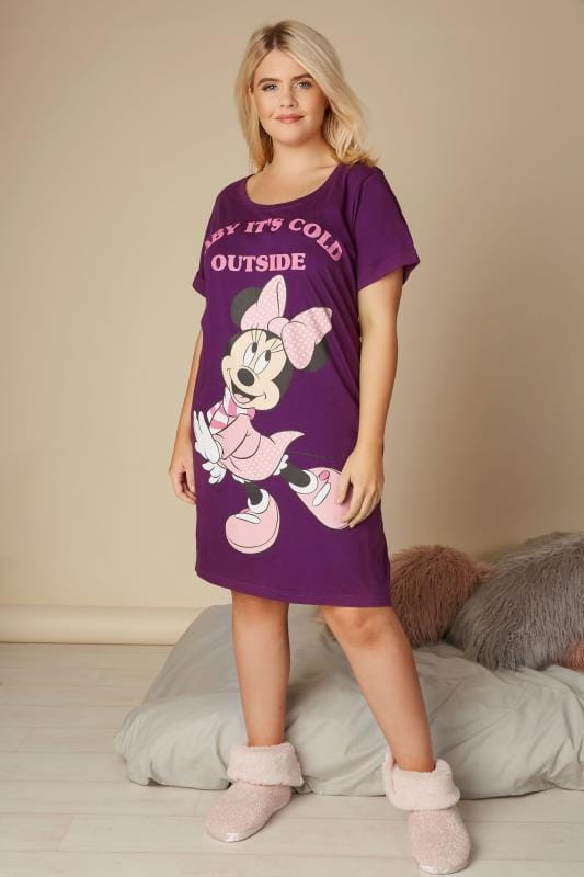 Purple Disney Minnie Mouse 'Baby It's Cold Outside' Nightdress