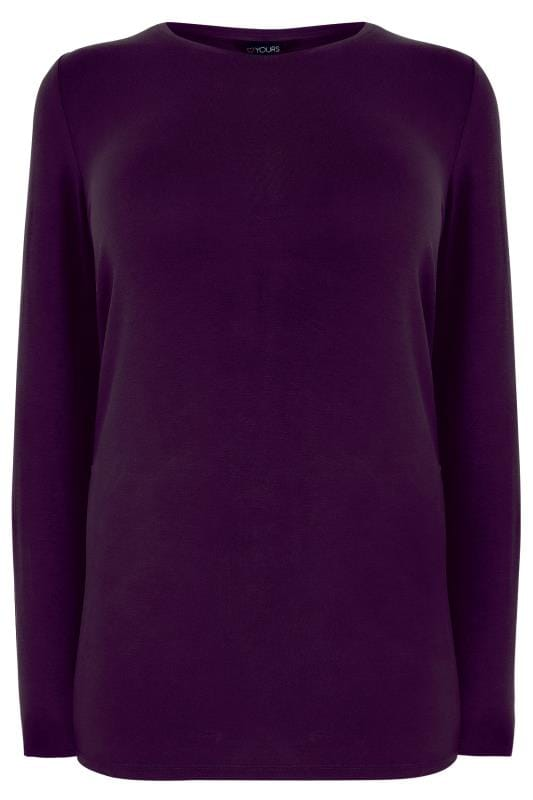 Purple Long Sleeve Soft Touch Jersey Top