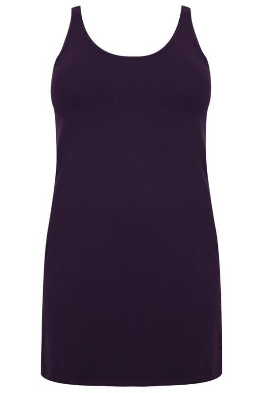 Purple Longline Vest Top