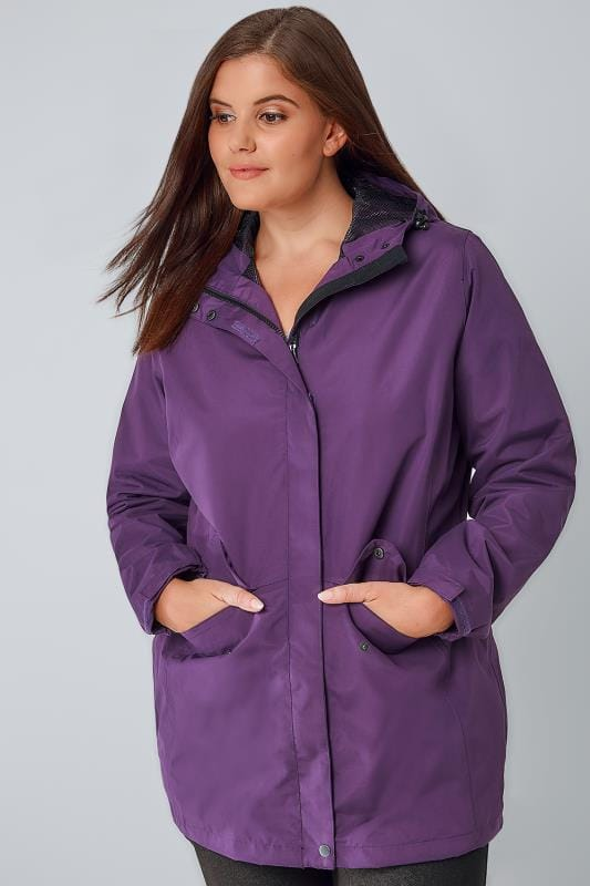 Purple Outdoors Waterproof & Windproof Hooded Shield Jacket