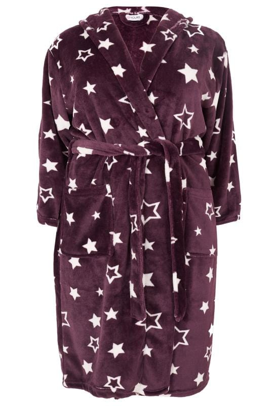 Plus Size Dressing Gowns Purple Star Dressing Gown