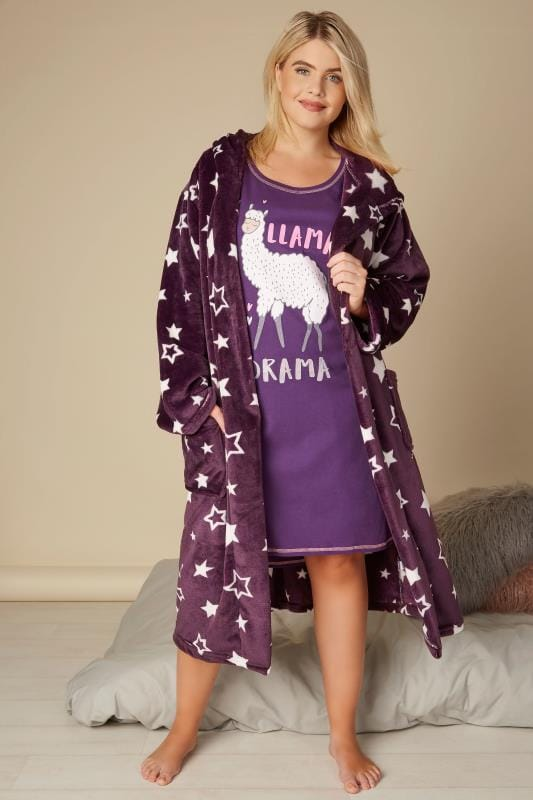 Purple Star Dressing Gown