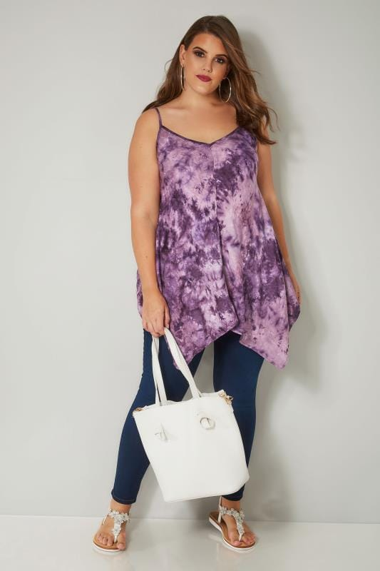 Purple Tie Dye Top