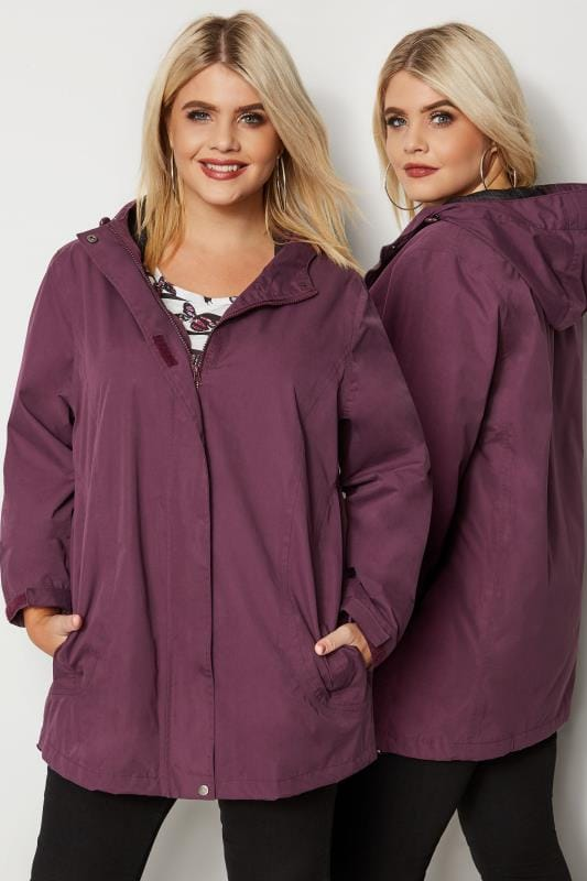 Purple Waterproof & Windproof Coat