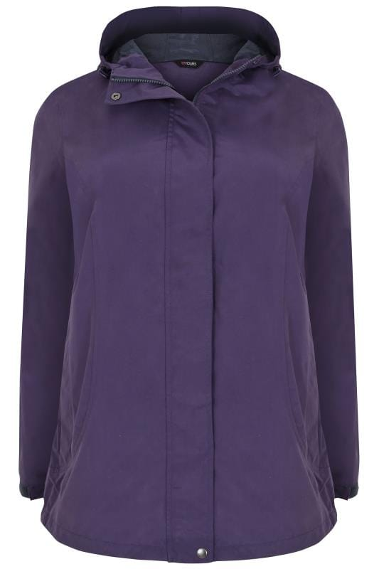 Waterproof & Shower Resistant Jackets Purple Waterproof & Windproof Jacket With Hood 120052