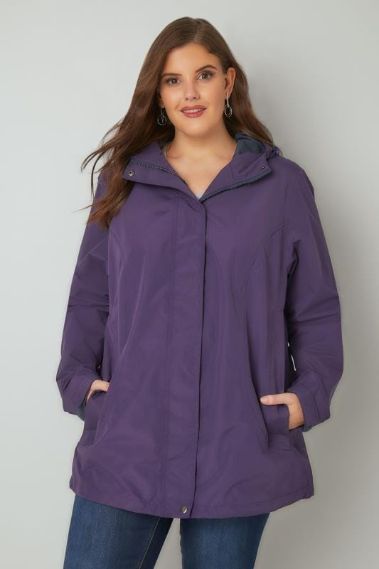 Purple Waterproof & Windproof Jacket With Hood