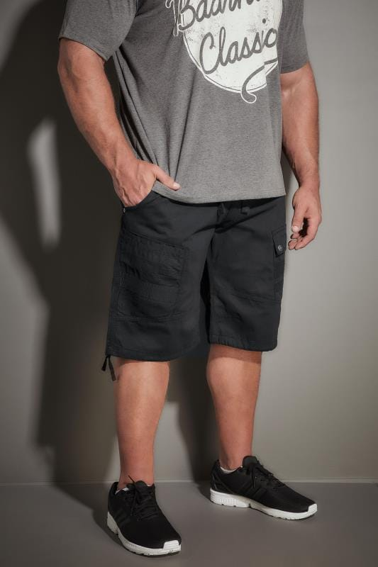 Cargo Shorts RAWCRAFT Black Cargo Shorts 170529