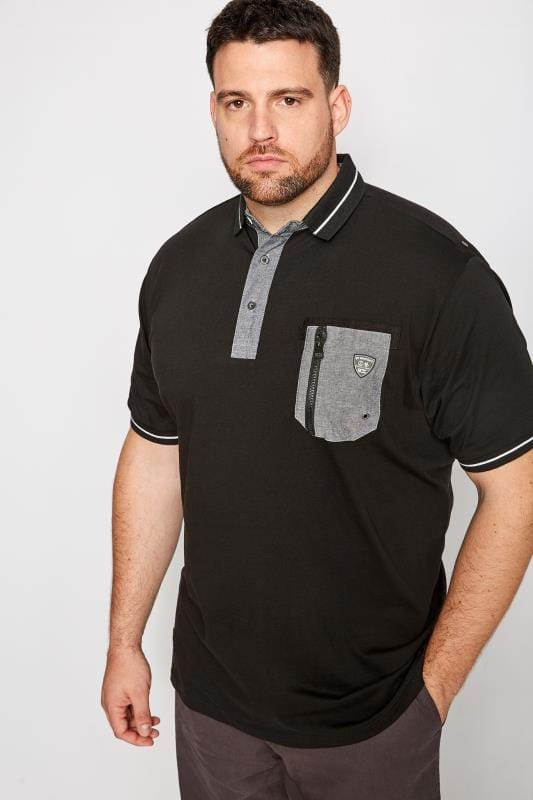 RAWCRAFT Black Hopper Pocket Polo Shirt