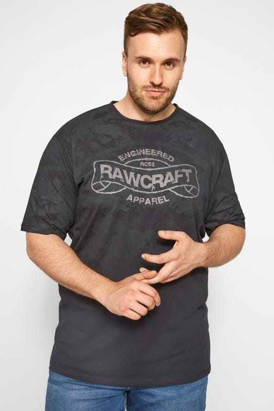 RAWCRAFT Black Slogan T-Shirt