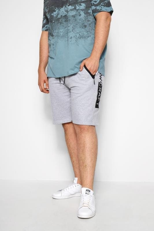 Jogger Shorts RAWCRAFT Grey Marl Sweat Shorts 201133