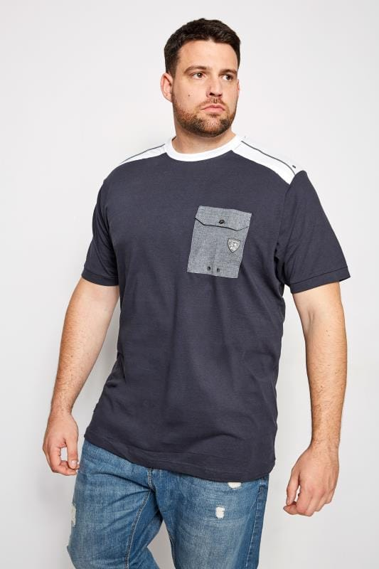 RAWCRAFT Navy Guardian Pocket T-Shirt