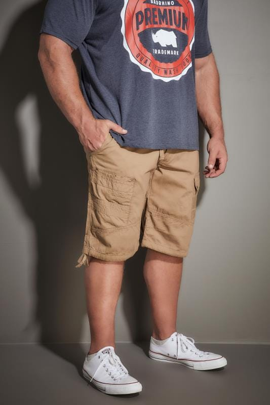RAWCRAFT Tan Cargo Shorts
