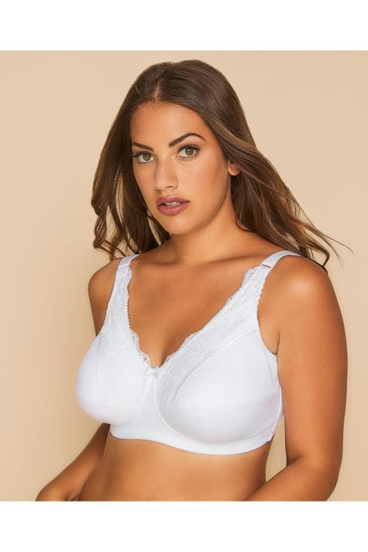 ROYCE White Caress Jasmine Post Surgery Bra