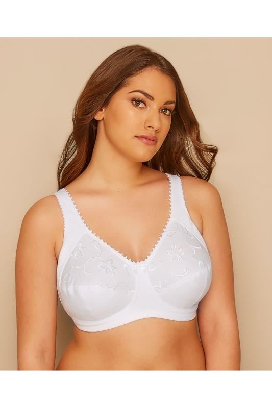 ROYCE White Grace Non-Wired Bra With Embroidery Detail