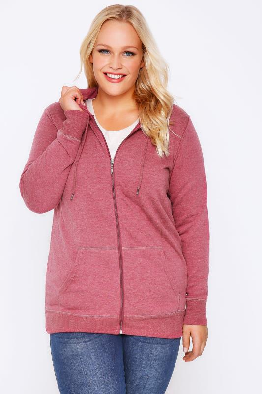 Raspberry Red Zip Up Hoodie