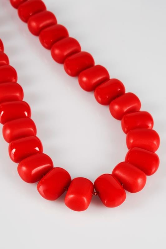 Collier de Perles Large Rouge