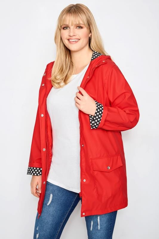 e673f81863bfe Plus Size Coats Red Coated Mac