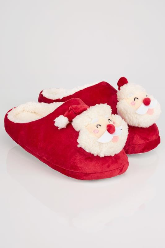 Red Father Christmas Mule Slipper