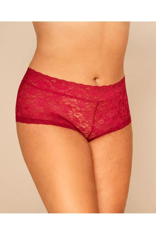 Plus Size Shorts Red Lace Shorts