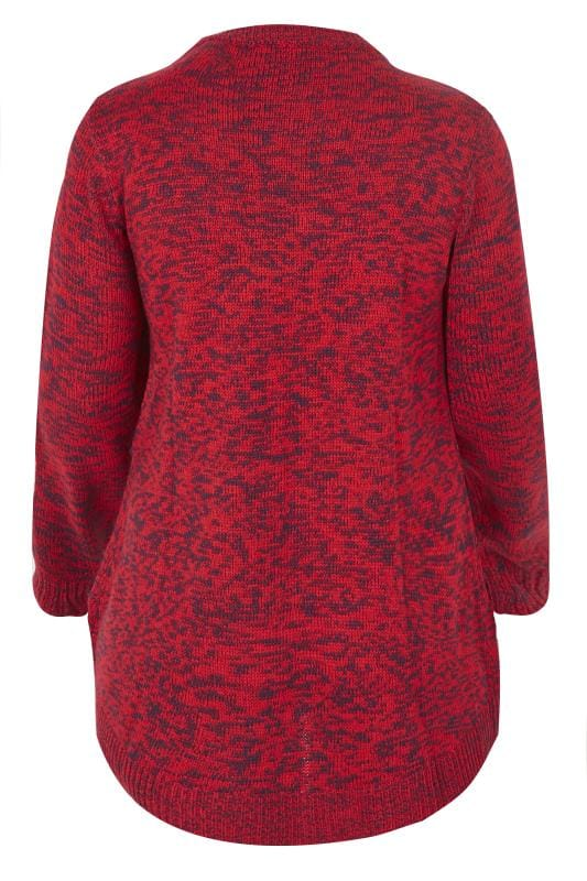 Red Twist Knitted Jumper