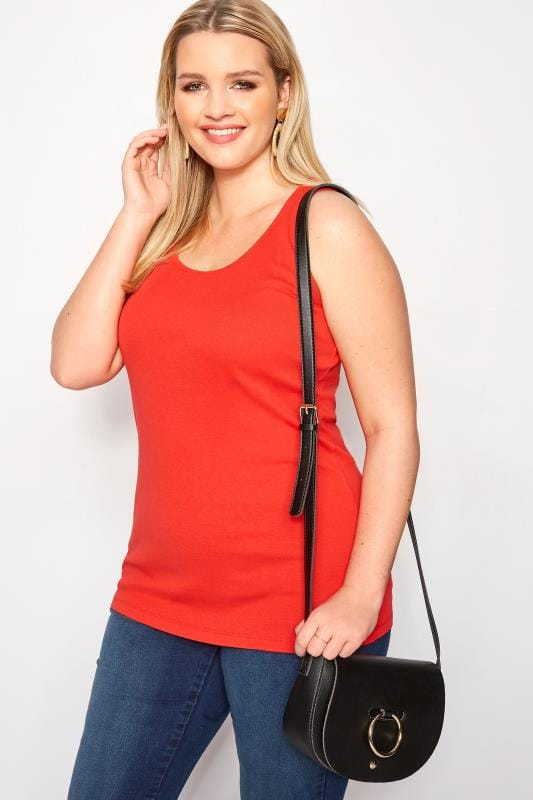 Plus Size Vests & Camis Red Vest