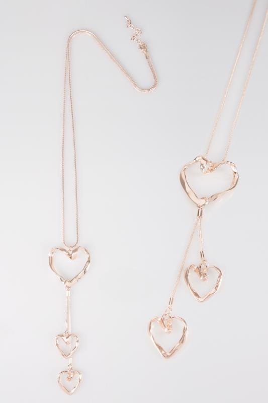 Rose Gold Heart Pendant Necklace