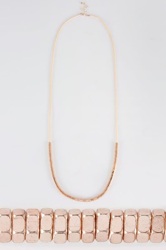 Rose Gold Beaded Necklace