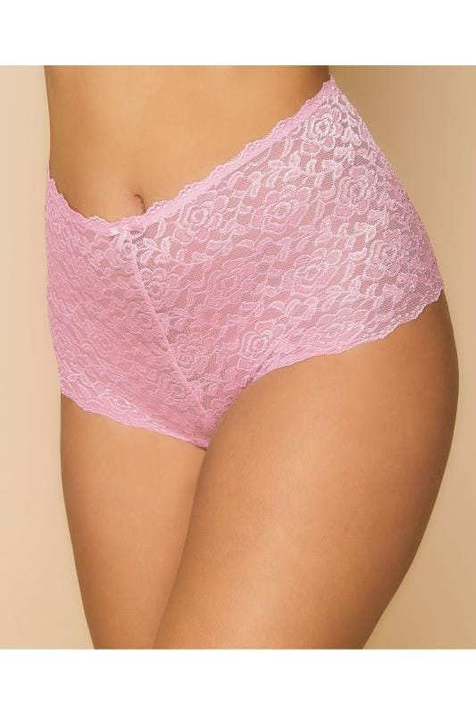 Slips Shorty En Dentelle Rose  146156