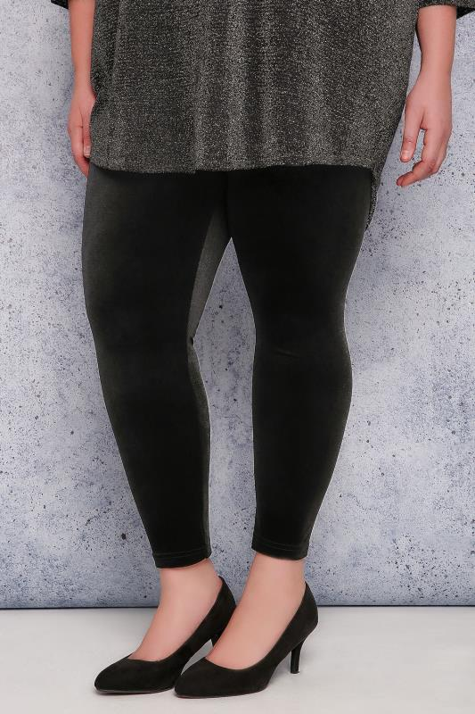 SCARLETT & JO Black Velvet Leggings