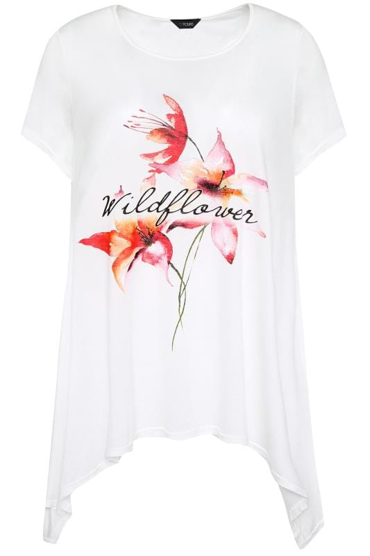 jersey tops SIZE UP Wit 'wildflower' t-shirt