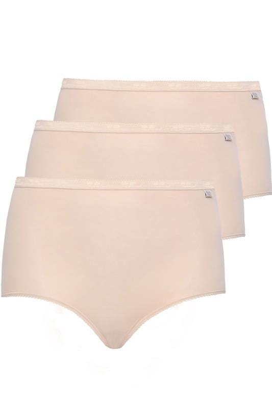Plus Size Briefs & Knickers SLOGGI 3 PACK Nude Basic Maxi Briefs