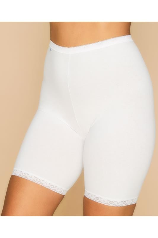 Plus Size Briefs & Knickers SLOGGI White Basic Long Length Briefs