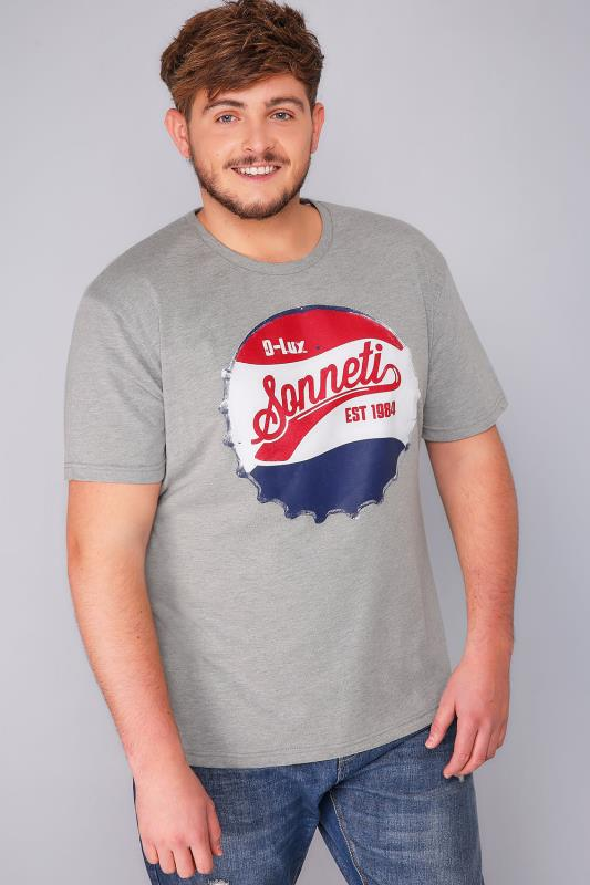 SONNETI Grey Marl Short Sleeve Crew Neck T-Shirt