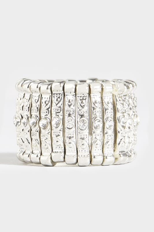 Silver Diamante Ring