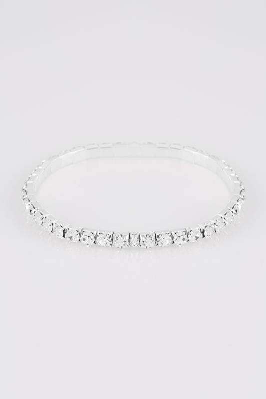 Silver Diamante Stretch Bracelet