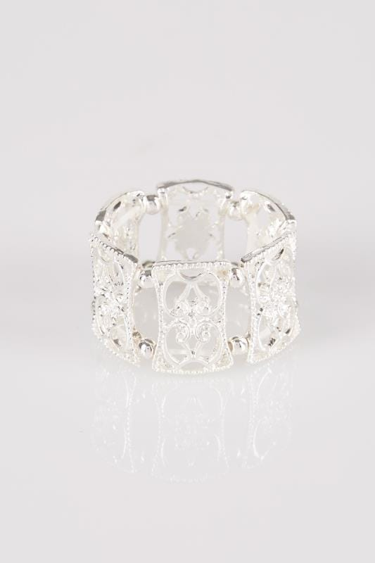 Silver Filigree Stretch Ring