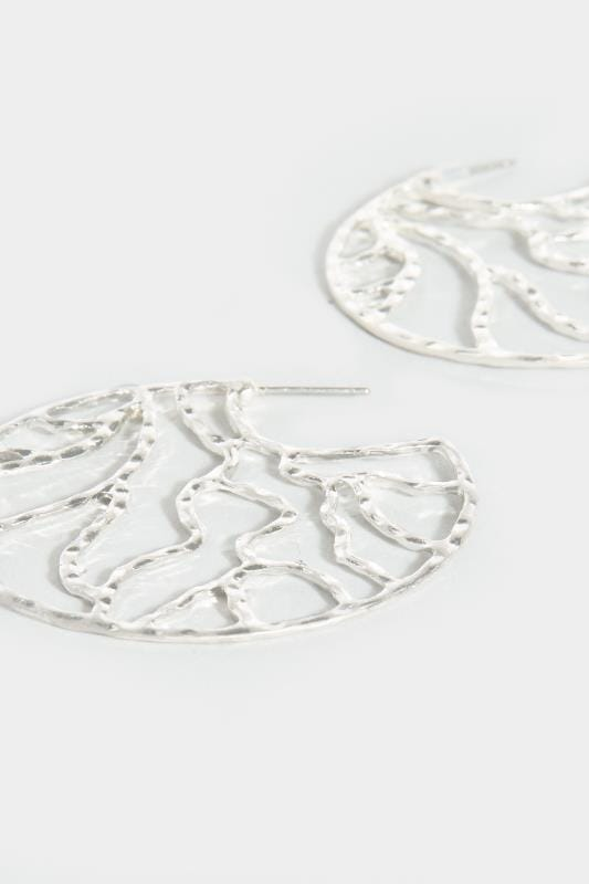 Silver Circular Cut Out Earrings