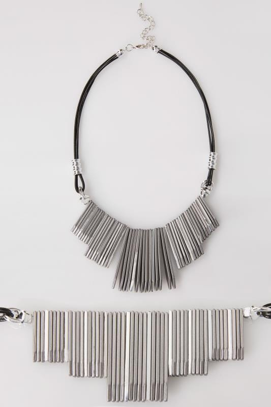 Silver Metal Tone Necklace