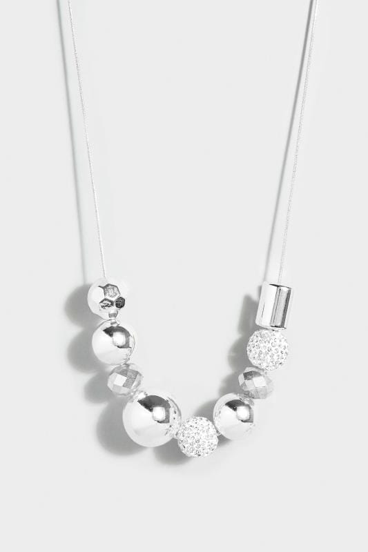 Silver Mixed Ball Necklace