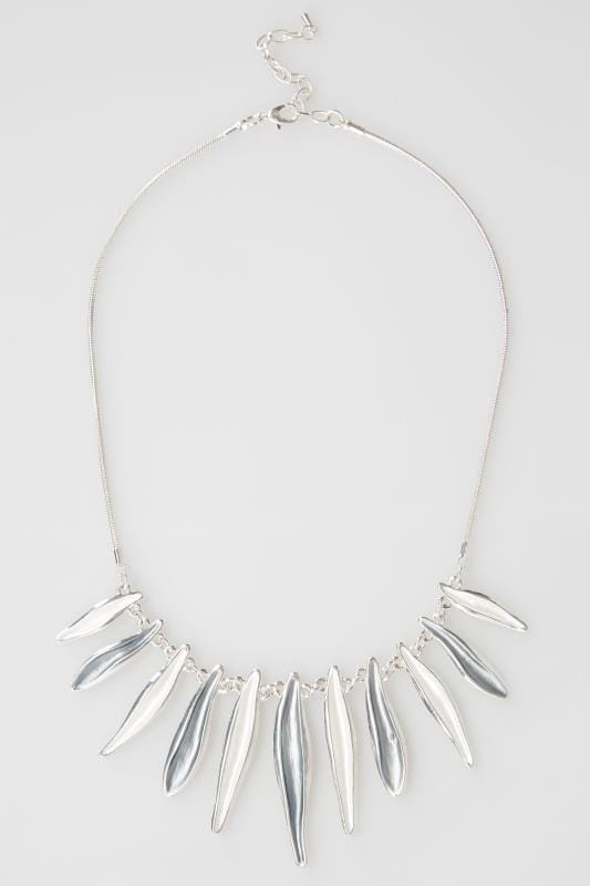 Silver Petal Trim Necklace