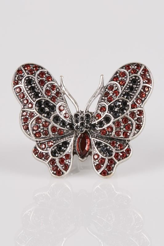 Silver Statement Butterfly Stretch Ring
