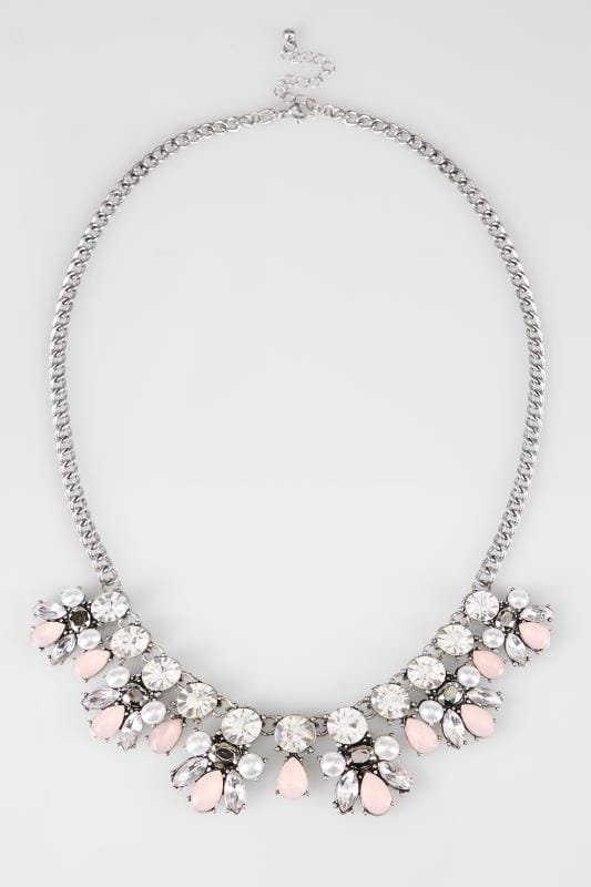 Silver Statement Jewel Necklace